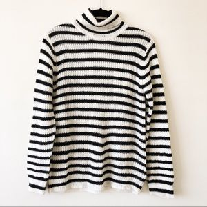 Bardot Navy + White Striped Sweater